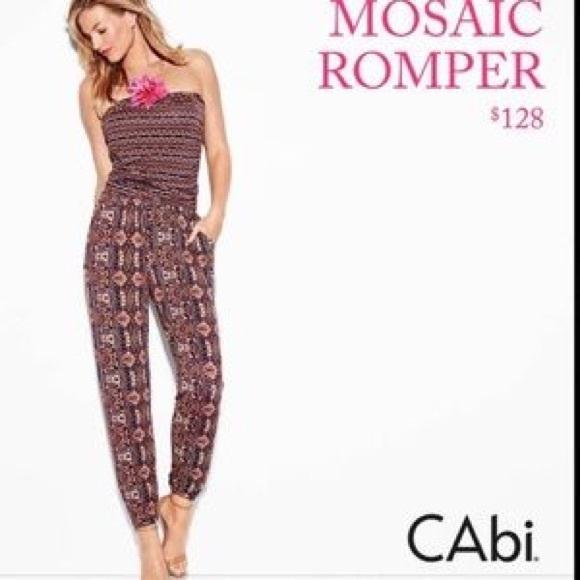 82562360553 CAbi Pants - CAbi mosaic romper